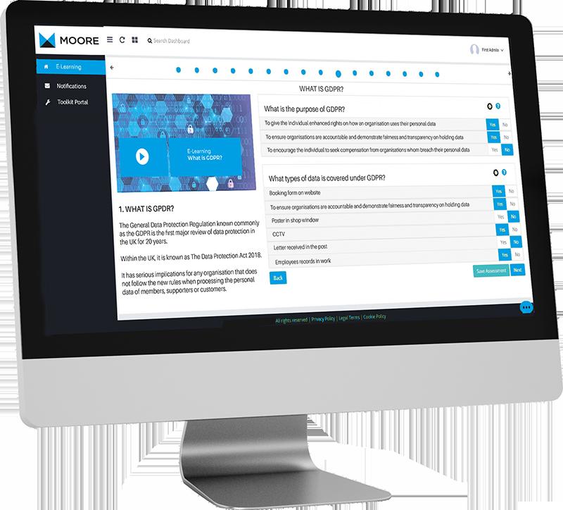 MKS Portal e-learning screen